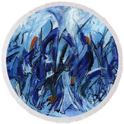 Modern Art Eleven Round Beach Towel
