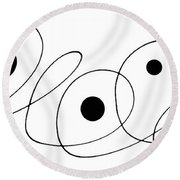 Modern Art - To The Point - By Sharon Cummings Round Beach Towel