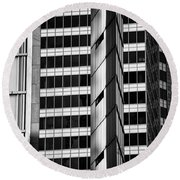 Modern Buildings Abstract Architecture Round Beach Towel