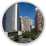 Modern Buildings In Central Rio De Round Beach Towel
