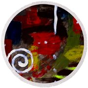 Modern Cave Art Round Beach Towel