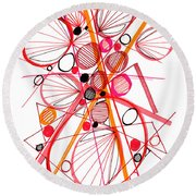 Modern Drawing Fifty-four Round Beach Towel