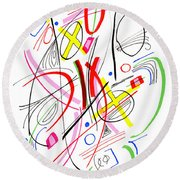 Modern Drawing Fifty-three Round Beach Towel