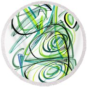 Modern Drawing Sixty Round Beach Towel