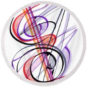 Modern Drawing Sixty-two Round Beach Towel