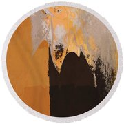 Modern From Classic Art Portrait - 01 Round Beach Towel
