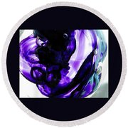 Modern Purple  Round Beach Towel