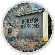 Modern Restrooms Round Beach Towel