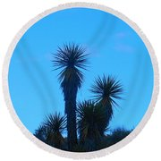 Mohave Blue Round Beach Towel
