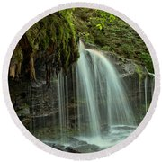 Mohawk Streams And Roots Round Beach Towel