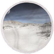 Mojave In Pale Round Beach Towel