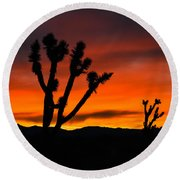Mojave Morning Round Beach Towel