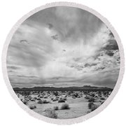 Mojave National Preserve Round Beach Towel