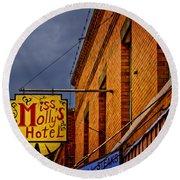 Miss Molly's Hotel Round Beach Towel