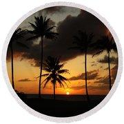 Moloki Sunset Round Beach Towel