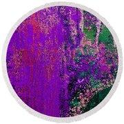 Molten Earth Purple Round Beach Towel