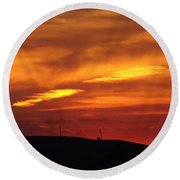 Molten Evening Round Beach Towel