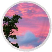 Momentary Magnificence Round Beach Towel