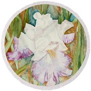 Mom's Iris Round Beach Towel