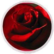 Mom's Red Rose Happy Birthday Wife Round Beach Towel