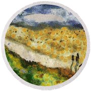 Momzie's Nature -t02-2v03f Round Beach Towel by Variance Collections
