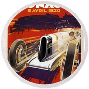 Monaco Grand Prix 1930 Round Beach Towel