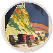 Monaco Grand Prix 1932 Round Beach Towel