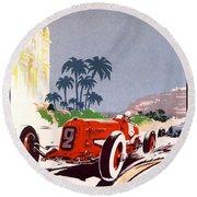 Monaco Grand Prix 1934 Round Beach Towel
