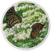 Monarch Butterfly 56 Round Beach Towel