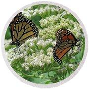 Monarch Butterfly 57 Round Beach Towel