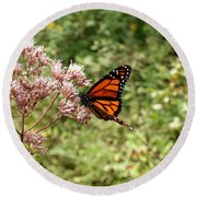 Monarch Of The North Round Beach Towel
