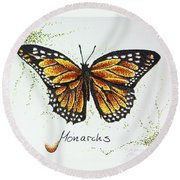 Monarchs - Butterfly Round Beach Towel