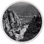 Monastery In The Valley Round Beach Towel by Ivy Ho
