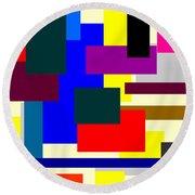 Mondrian Composition Round Beach Towel