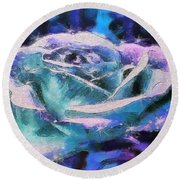 Monet Frosted Rose Round Beach Towel