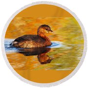 Monet Grebe Round Beach Towel