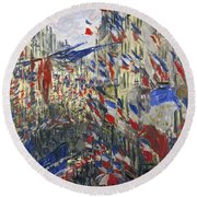 Monet: Montorgeuil, 1878 Round Beach Towel