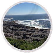 Monhegan Island Round Beach Towel