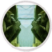 Monkey See Monkey Do Round Beach Towel