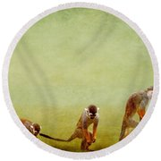 Monkeys Round Beach Towel