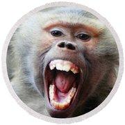 Monkey's Smile Round Beach Towel