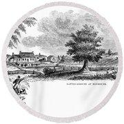 Monmouth Battlefield Round Beach Towel