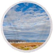 Mono Lake Tufa Formations Round Beach Towel