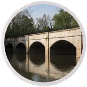 Monocacy Aqueduct On The C And O Canal In Maryland Round Beach Towel