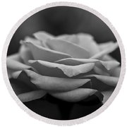 Monotone Rose Round Beach Towel