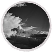Monsoon Clouds At Sunset Round Beach Towel