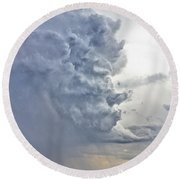 Monster Cloud Country Round Beach Towel