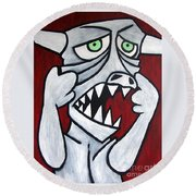Monsters Afaid Of Monsters Round Beach Towel
