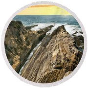Montana De Oro Shore Round Beach Towel