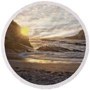 Montana De Oro Sunset II Round Beach Towel